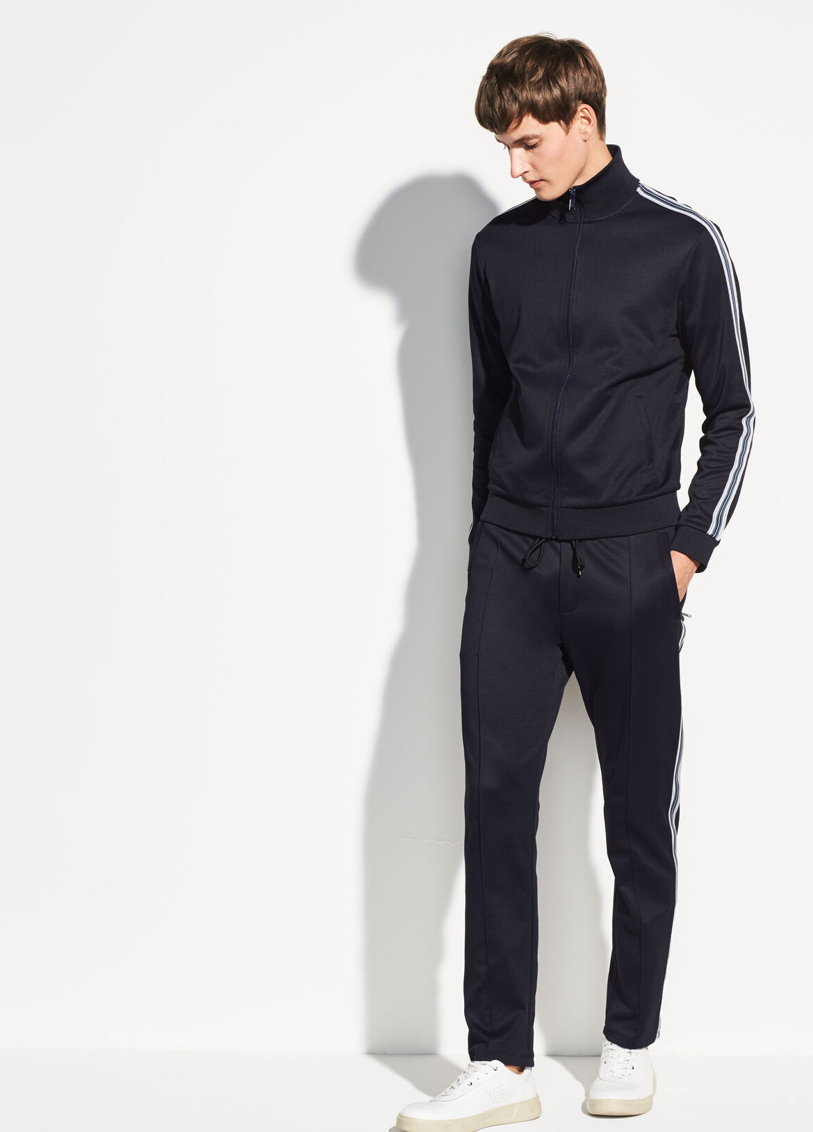 빈스 Vince Striped Track Jacket,coastal