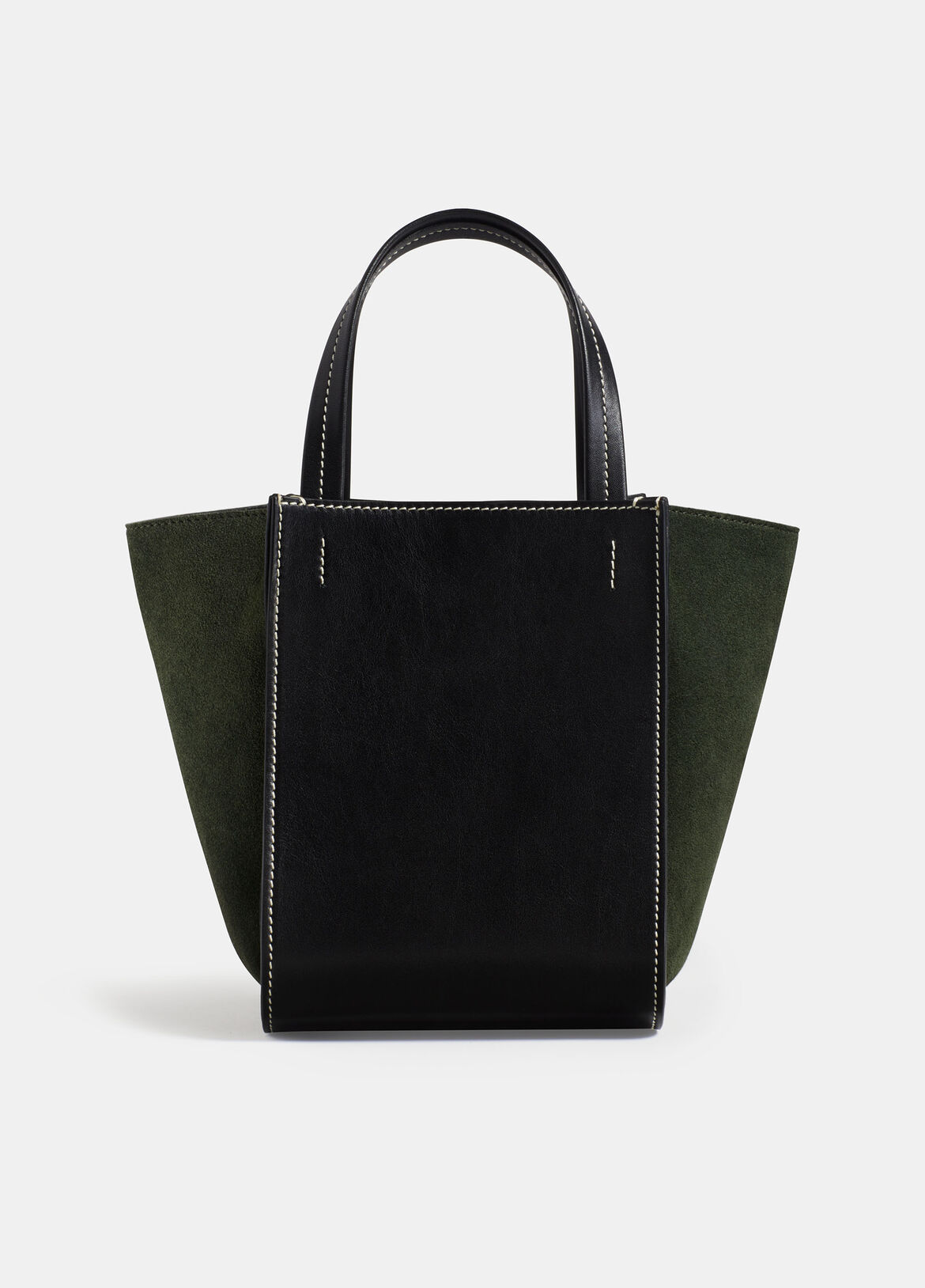 빈스 Vince Exclusive / Topanga Mini Tote,BLACK/GREEN