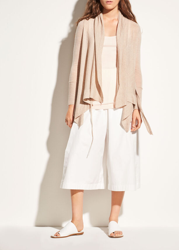 Drape Front Wool And Cashmere Cardigan by Vince