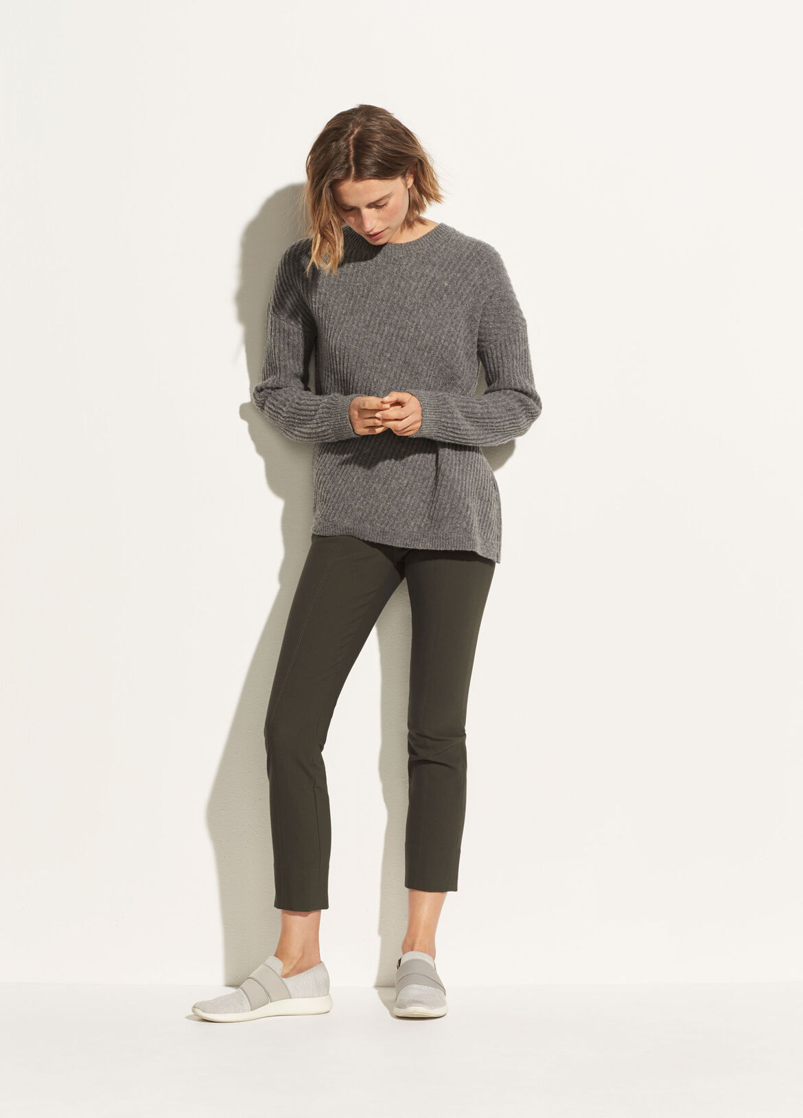 빈스 Vince Stitch Front Seam Legging,deep laurel