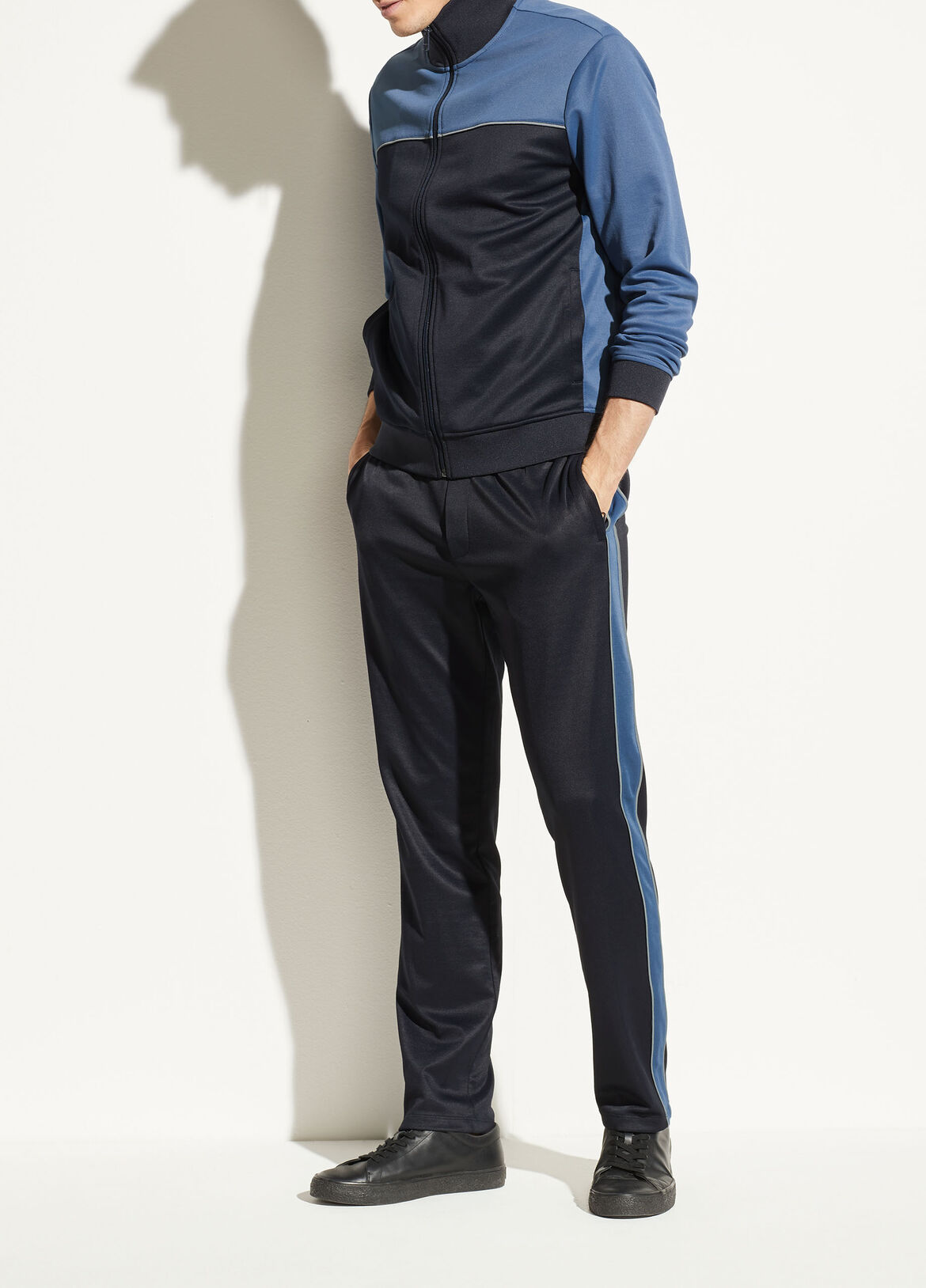 빈스 Vince Color Block Track Pant,spruce blue
