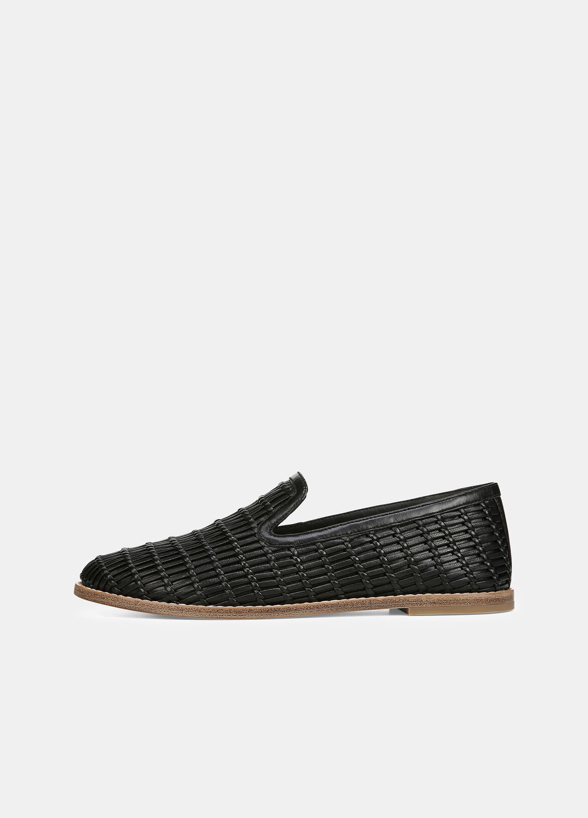 빈스 Vince Jonah Woven Leather Loafers,black