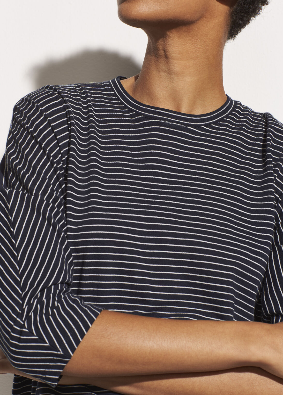 빈스 Vince Pencil Stripe Dolman,coastal/optic white