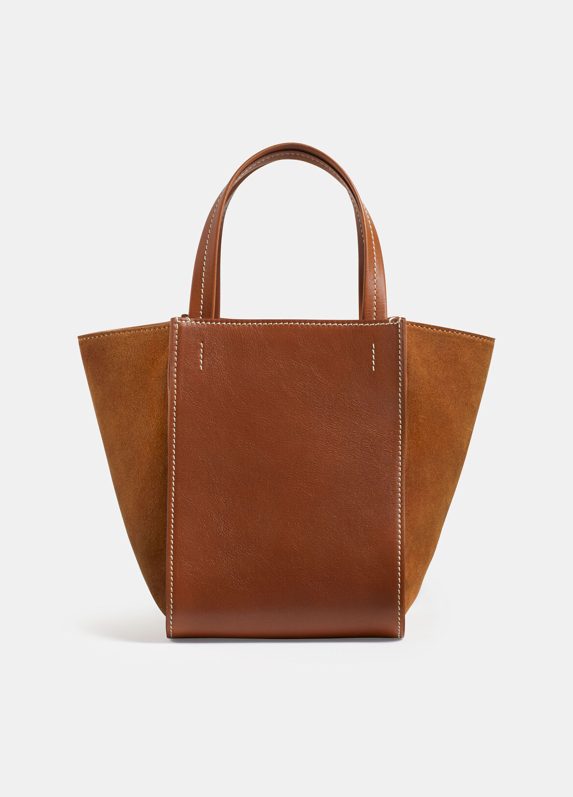 빈스 Vince Exclusive / Topanga Mini Tote,SADDLE
