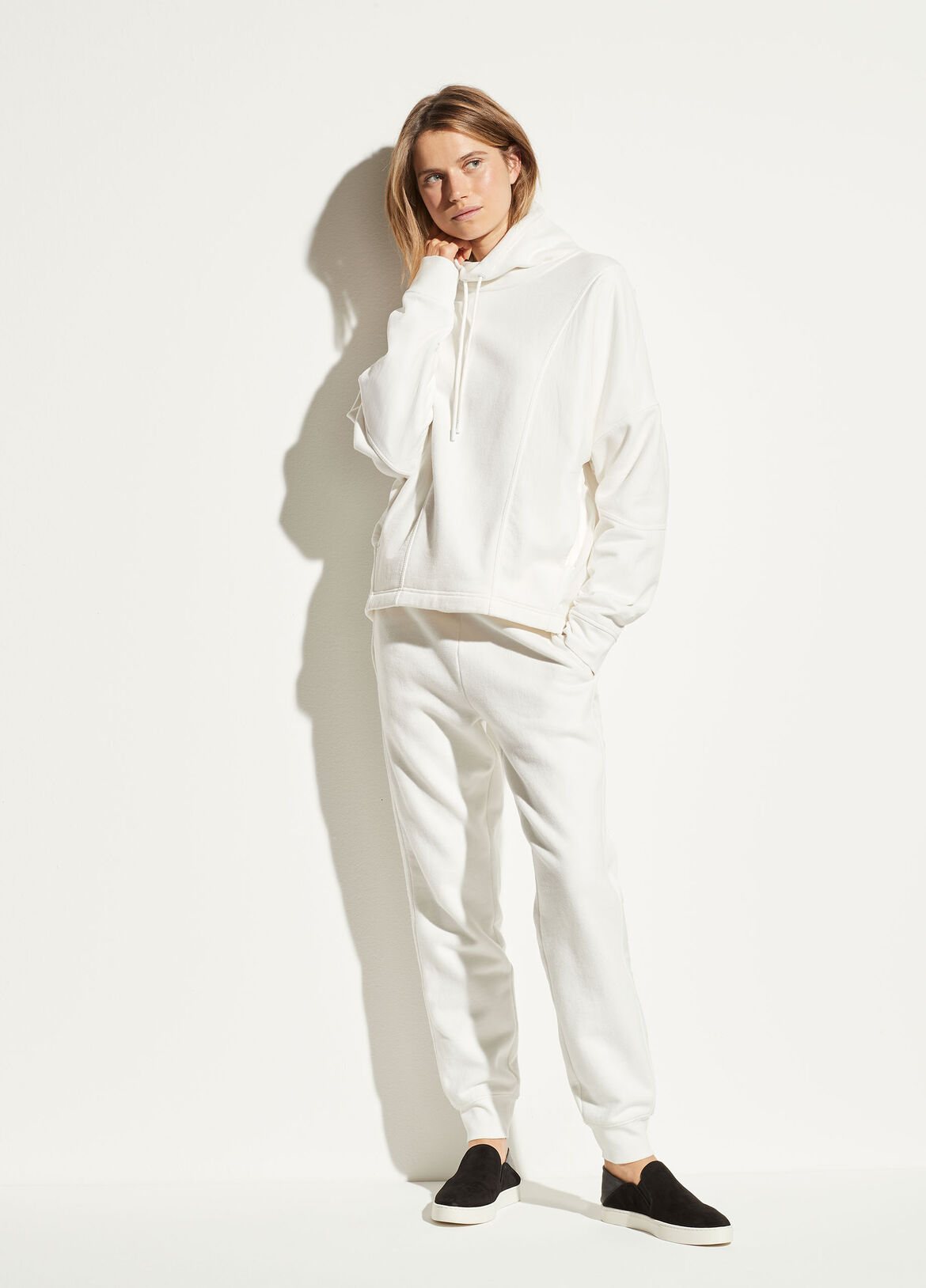 빈스 Vince Mixed Terry Jogger,off white