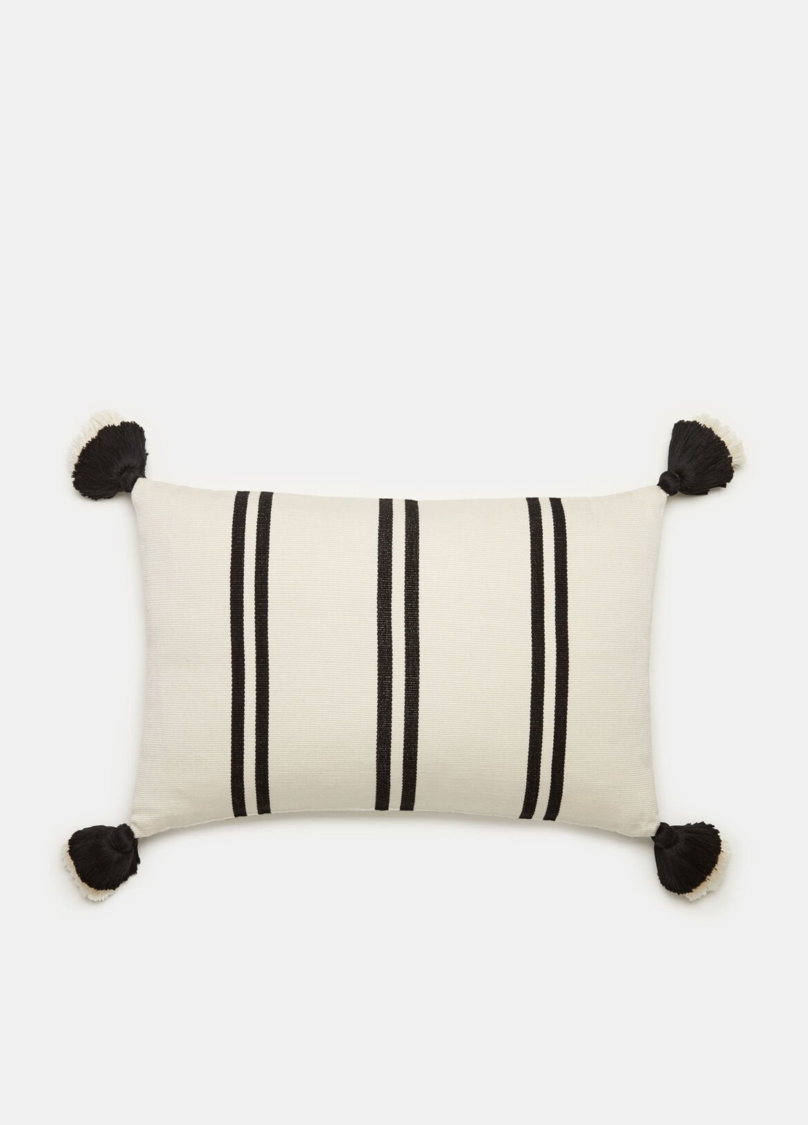 빈스 Vince Double Stripe Mini Pillow,OFF WHITE /BLACK