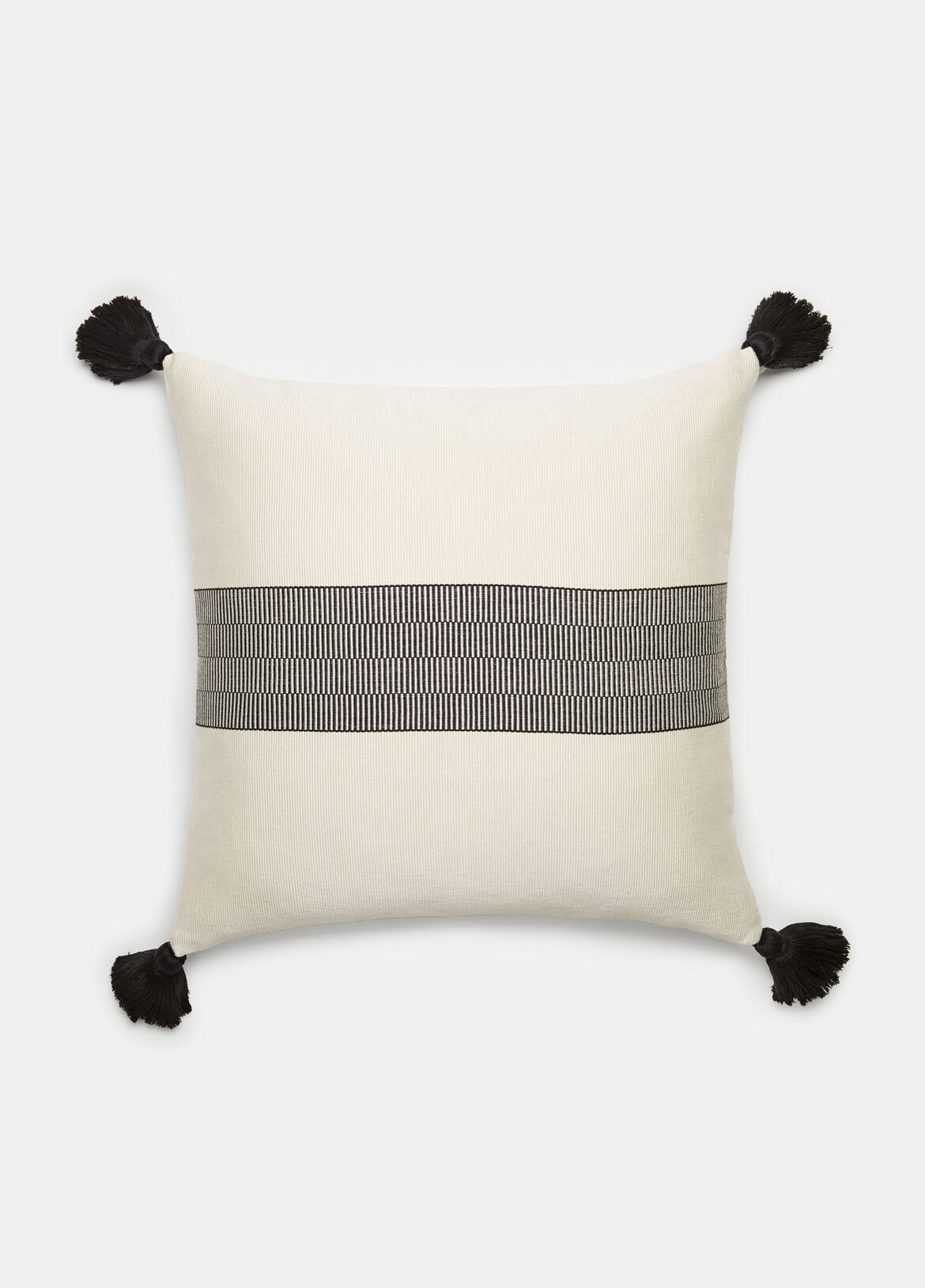 빈스 Vince Bar Stripe Pillow,OFF WHITE/BLACK