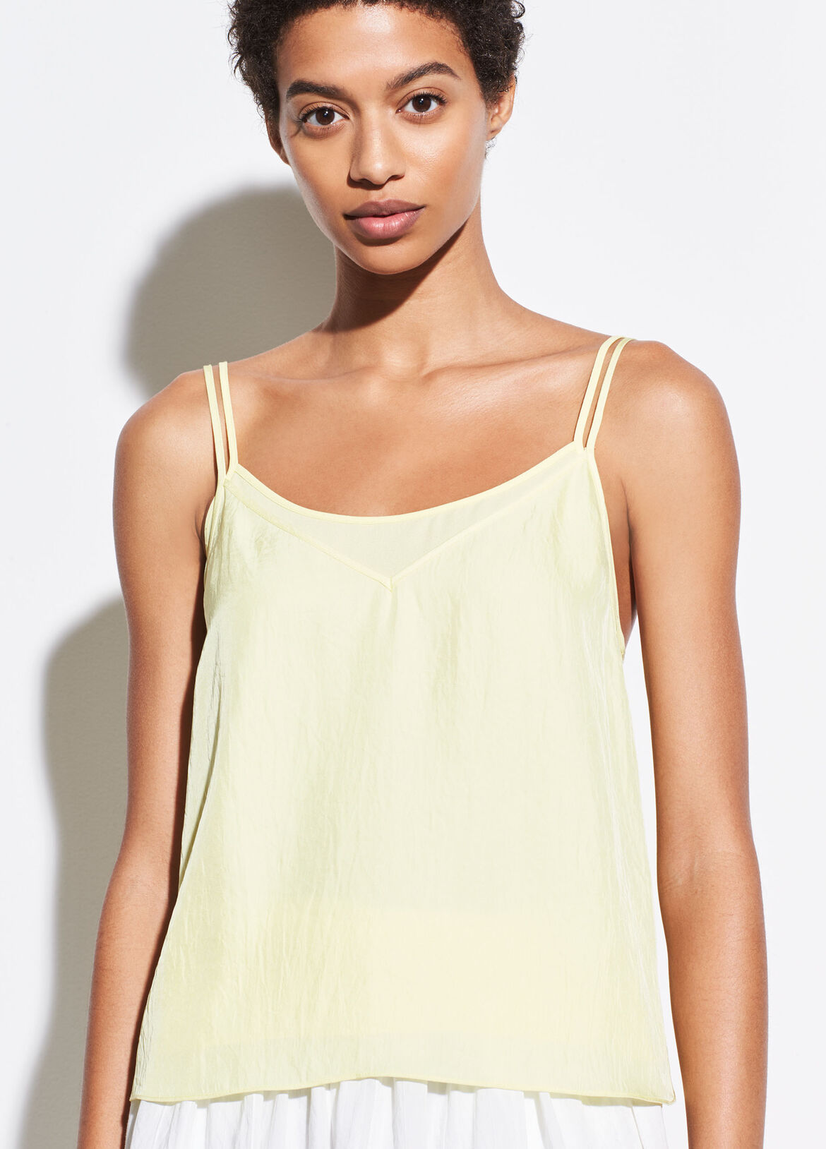 빈스 캐미솔 Vince Double Layer Camisole,lemon glow