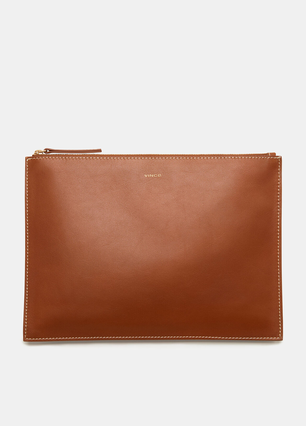 빈스 Vince Exclusive / Palm Large Pouch,SADDLE