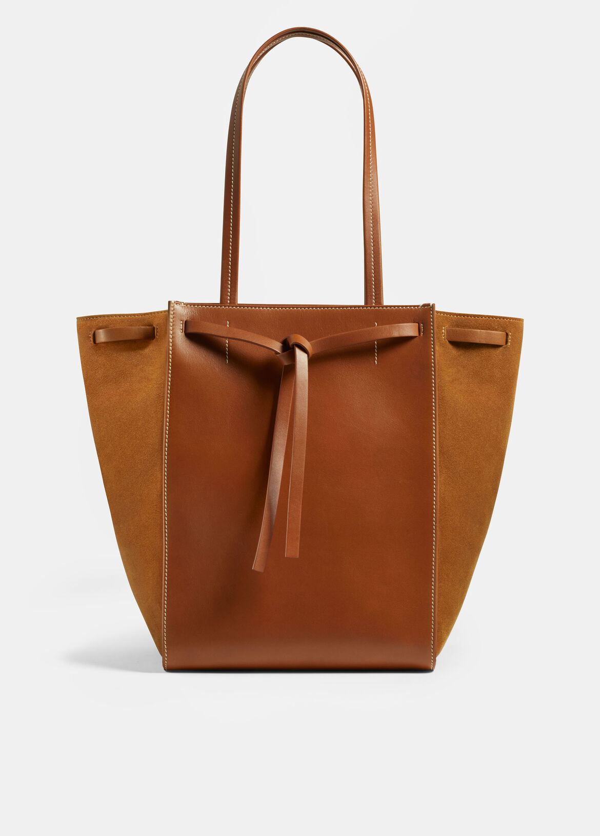 빈스 Vince Exclusive / Topanga Tote,SADDLE