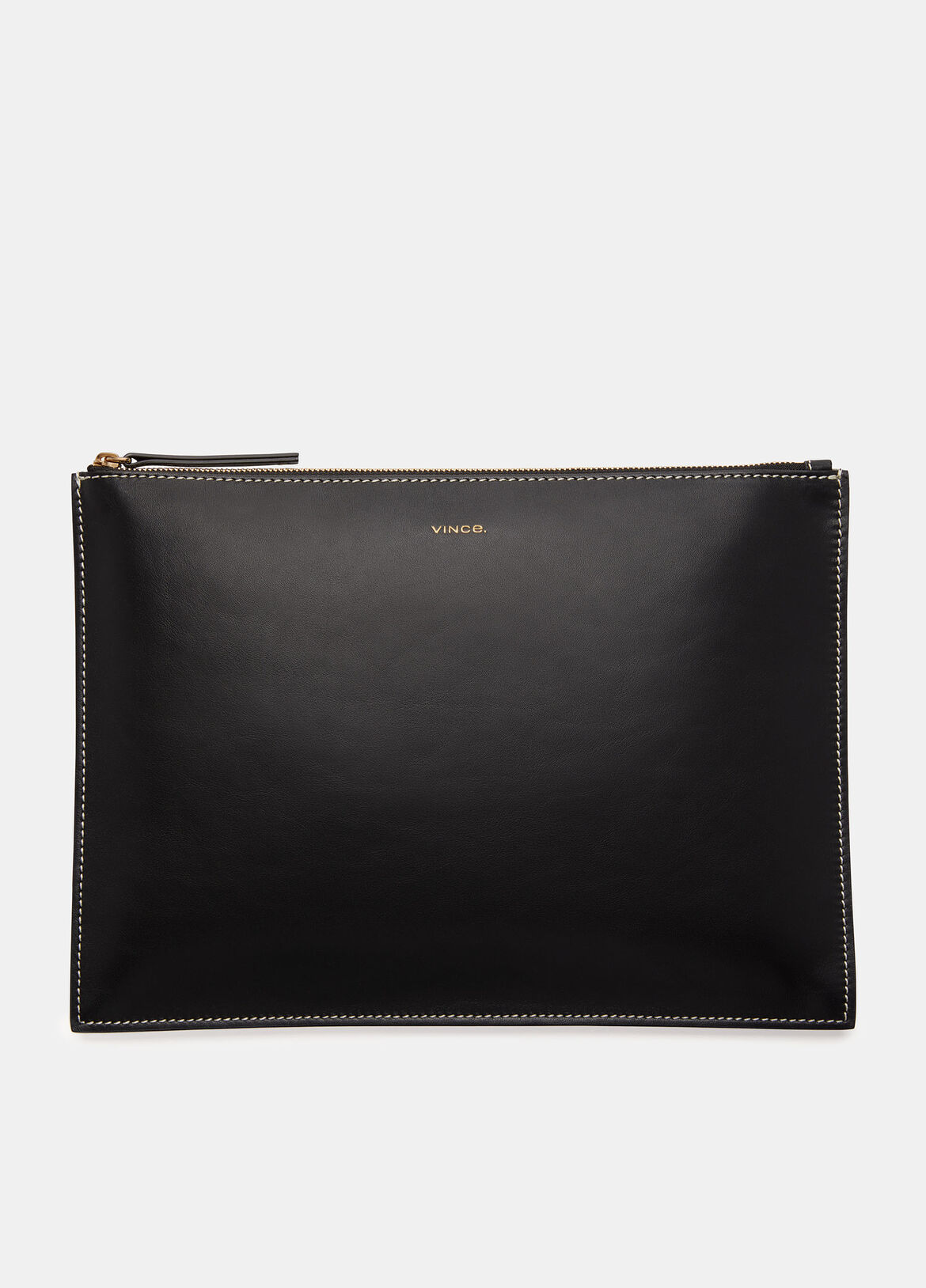 빈스 Vince Exclusive / Palm Large Pouch,BLACK