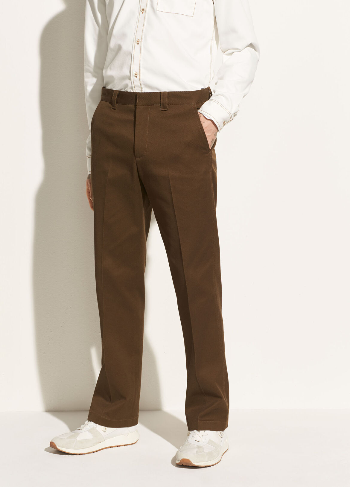 빈스 Vince Stay Pressed Trouser,infantry green
