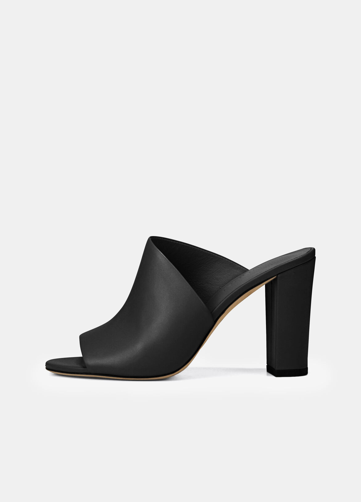 빈스 Vince Leather Hanna Mule,black