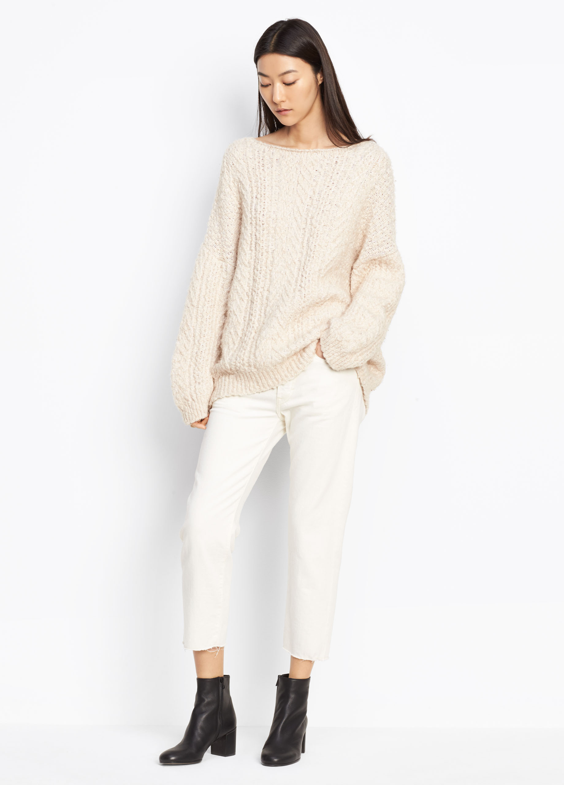 Shirred Drape Pullover