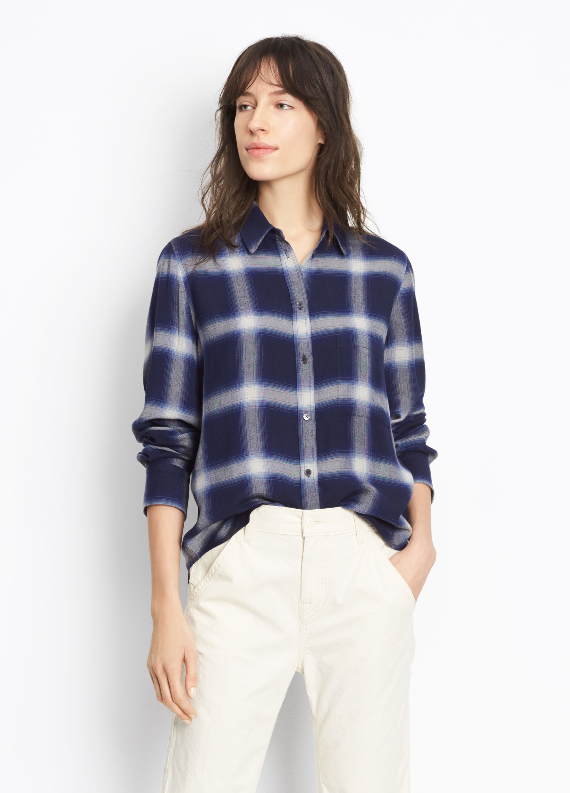 Striped Ribbed Cashmere Crew