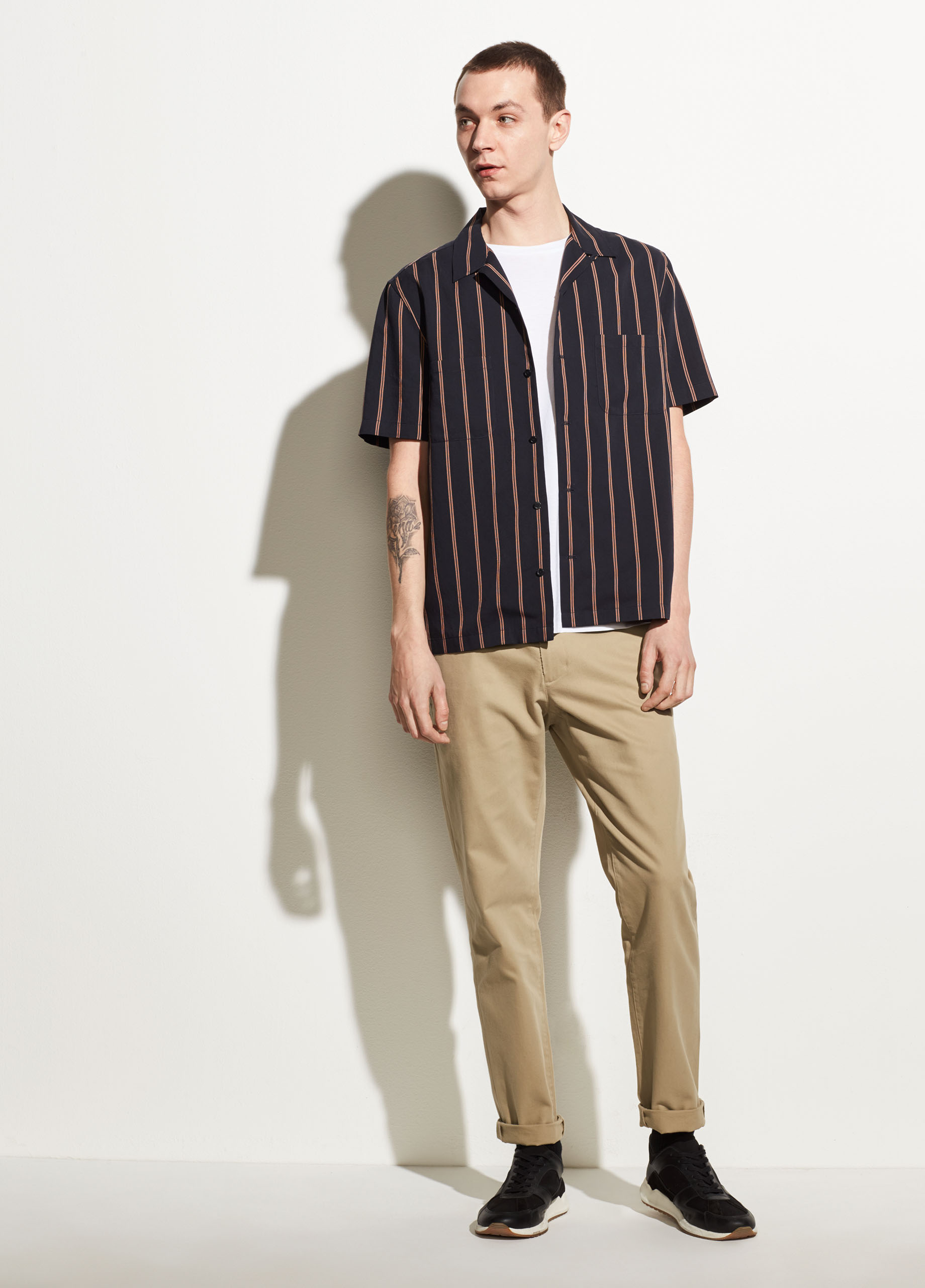 Striped Cotton Short Sleeve