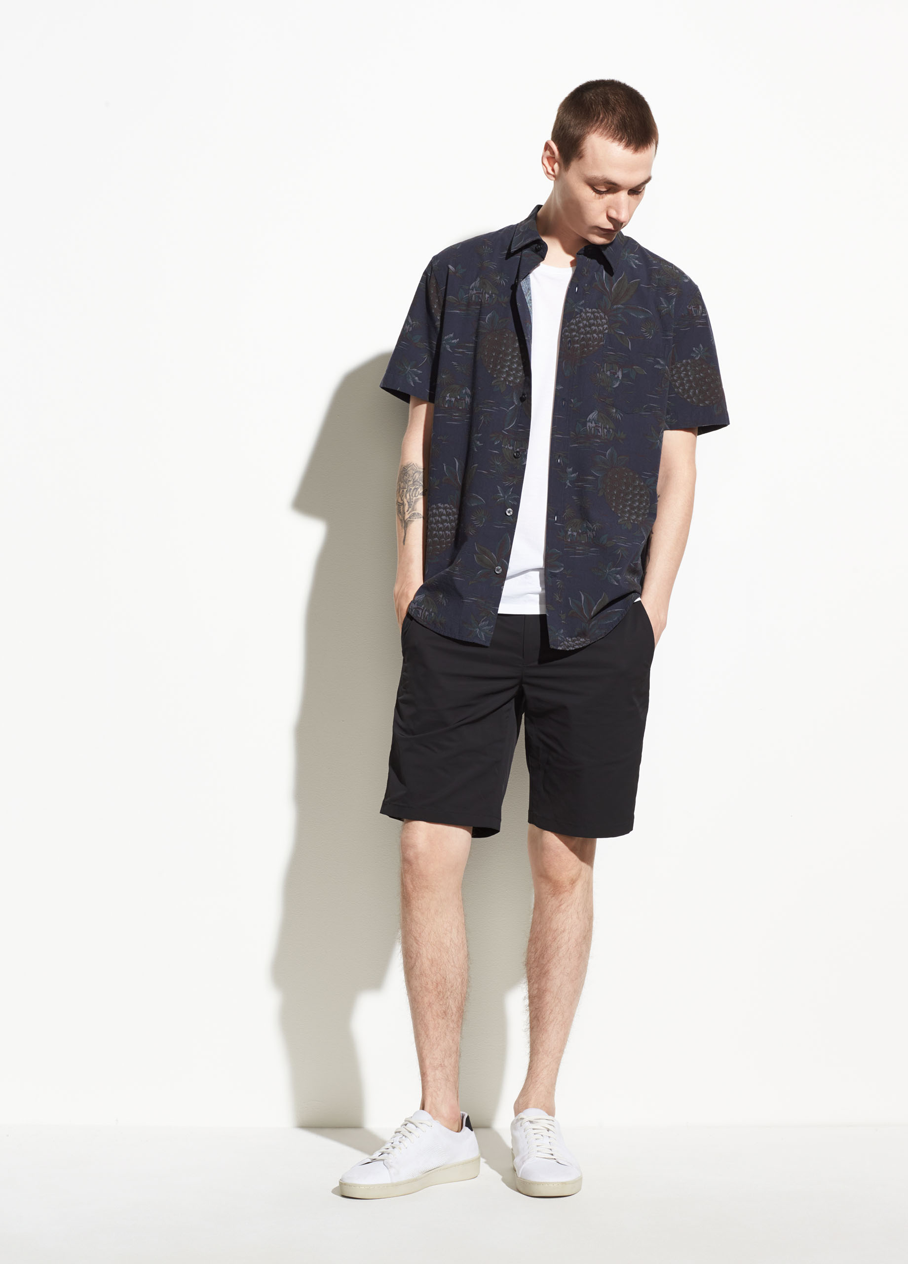 Palm Leaf Cabana Short Sleeve