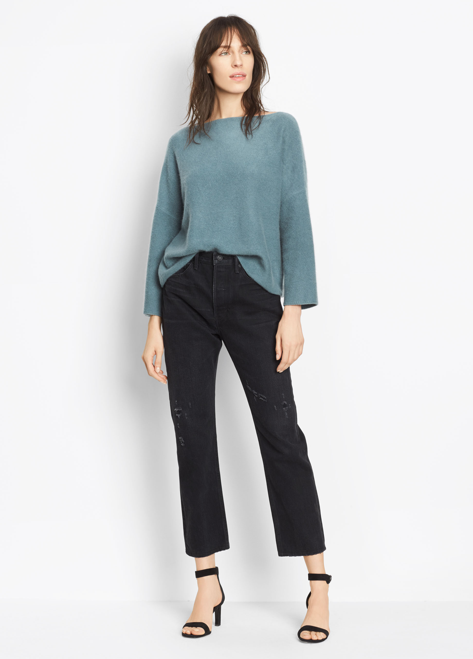 Wide Neck Cashmere Crop