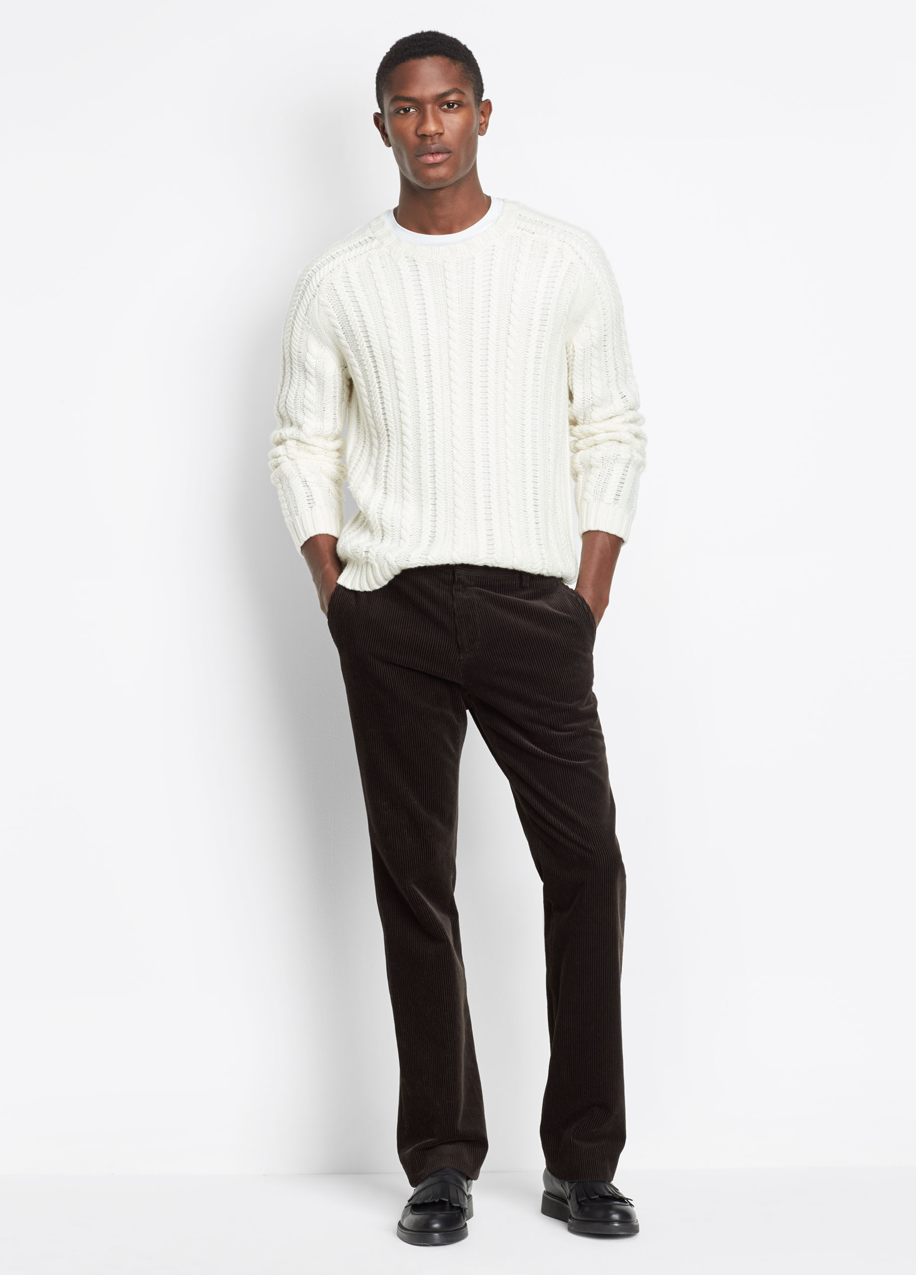 Cashmere Stripe Turtleneck
