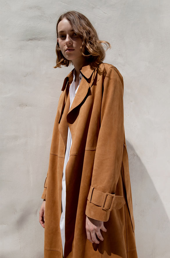 Suede Trench Vince Spring Pre-Order for Women