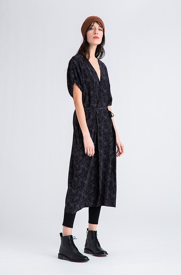 Kimono Wrap Dress Vince Pre-Order for Women