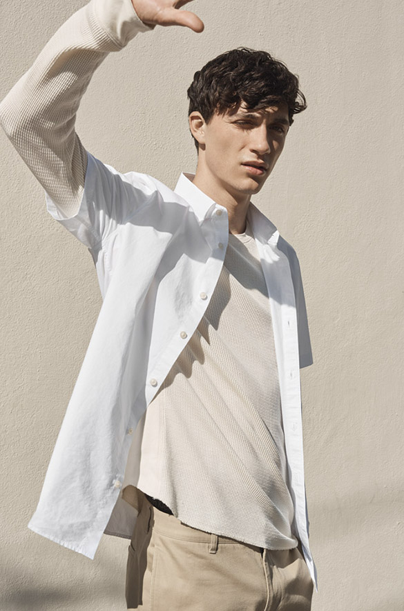 Cotton-Poplin Short Sleeve Prefall 2018 Collection for Men