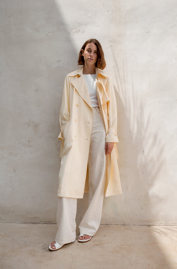 Drapey Satin Trench Vince Spring Pre-Order for Women