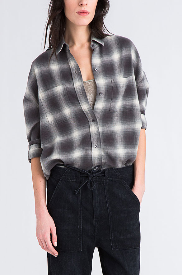 Plaid Button-Down Vince Pre-Order for Women