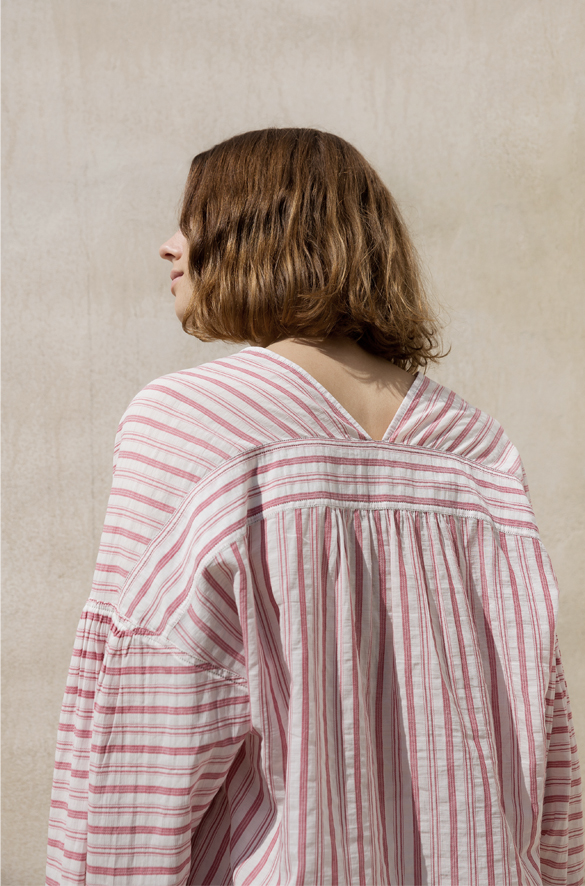 Variegated Stripe Long Sleeve Pullover for Women