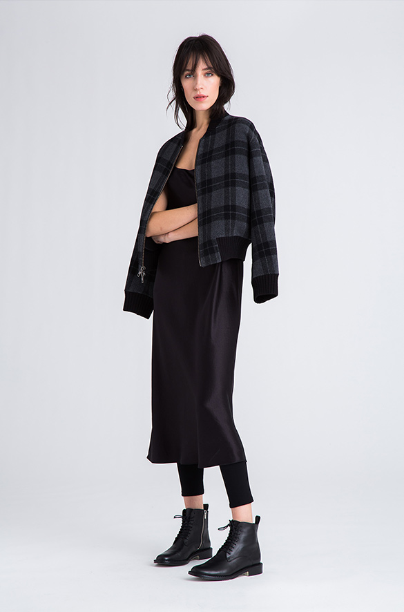 Plaid Bomber Vince Pre-Order for Women