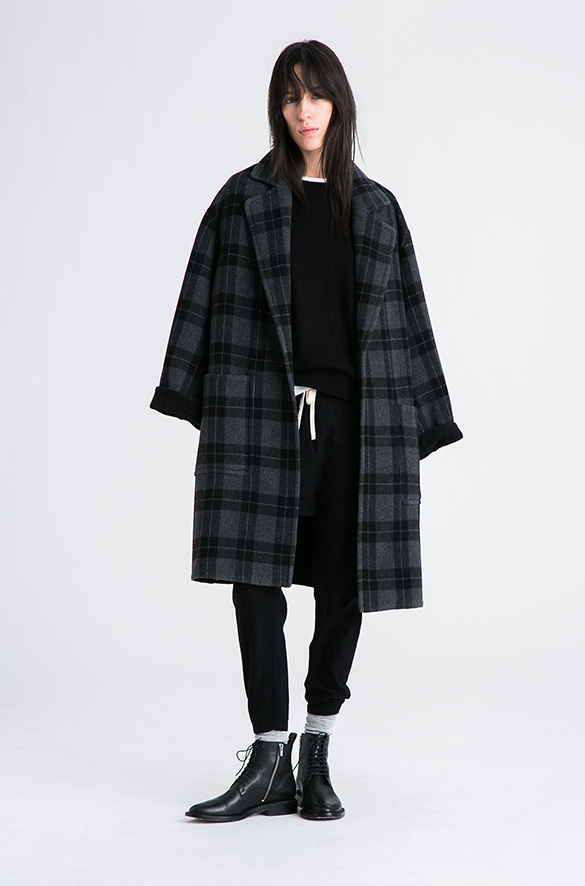 Plaid Car Coat Vince Pre-Order for Women