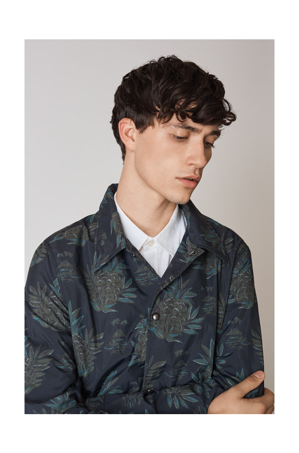 Tropical Print Coaches Jacket Vince Summer for Men