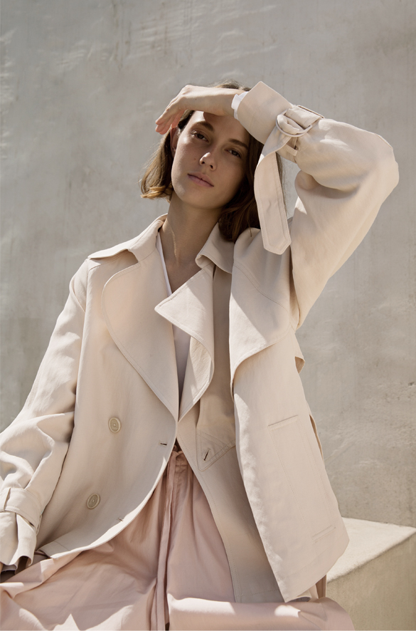 Cropped Trench Vince Spring for Women
