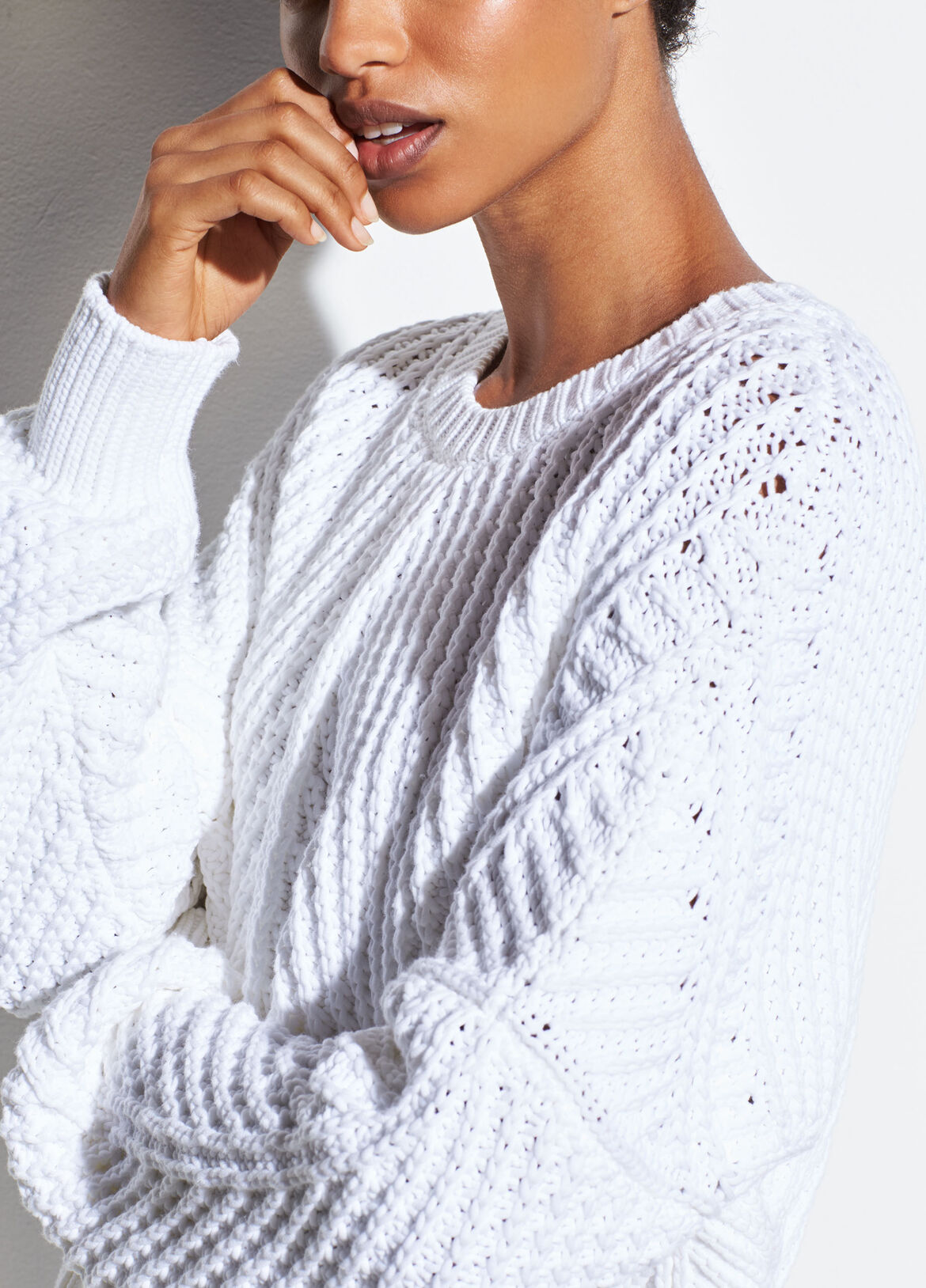 7b4d30ff03 Directional Rib Cotton Pullover