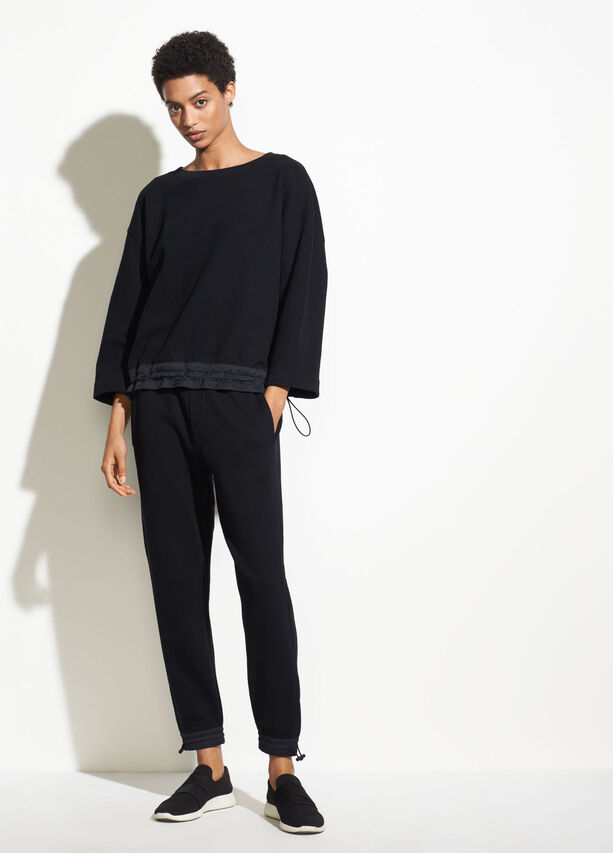 Mixed Media Pullover by Vince
