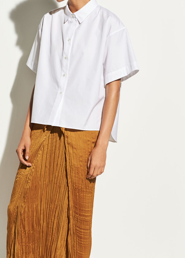 Short Sleeve Cotton Button Up by Vince