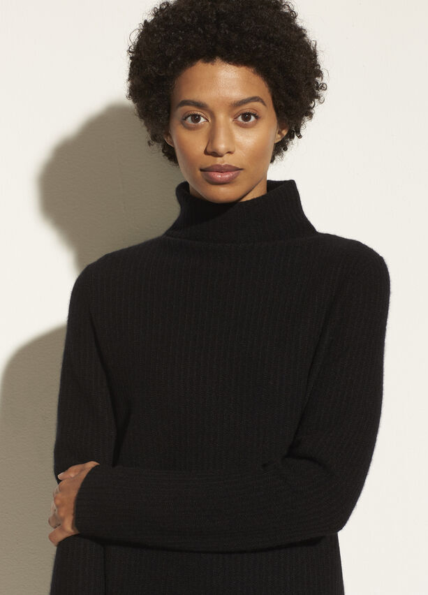 Vince Boiled Cashmere Turtleneck Tunic