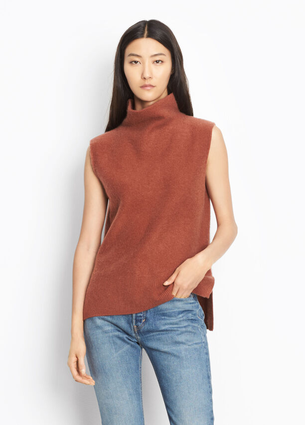 c329591215976 Split Side Cashmere Turtleneck for Women