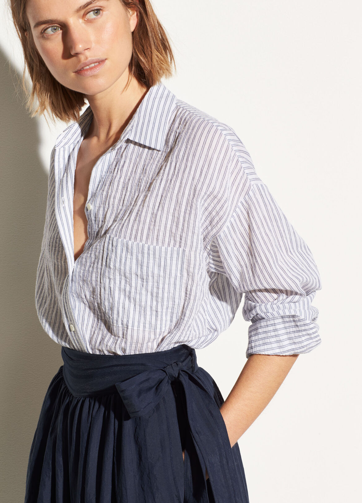 a9c07d20 Striped Boxy Long Sleeve Shirt