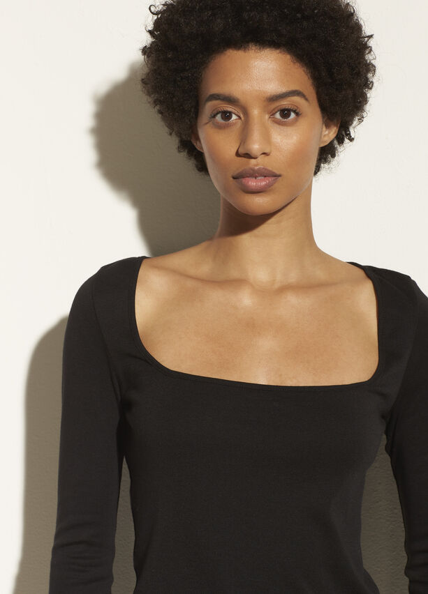 Vince Long Sleeve Square Neck