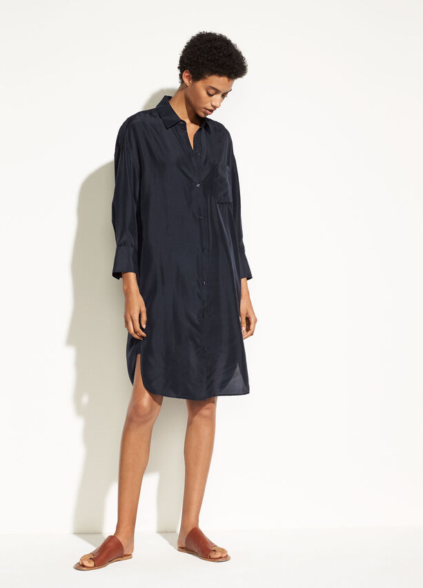 Silk Shirtdress by Vince