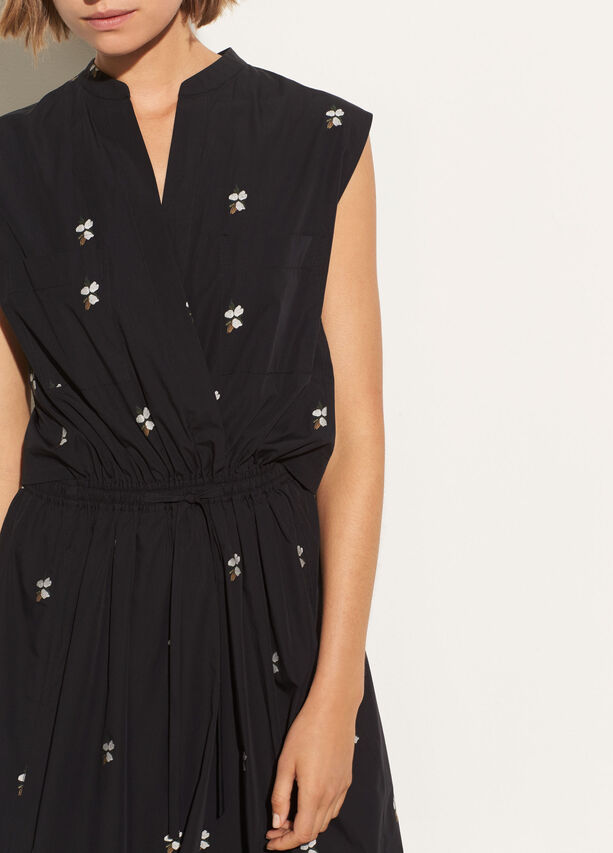 Micro Floral Utility Dress by Vince
