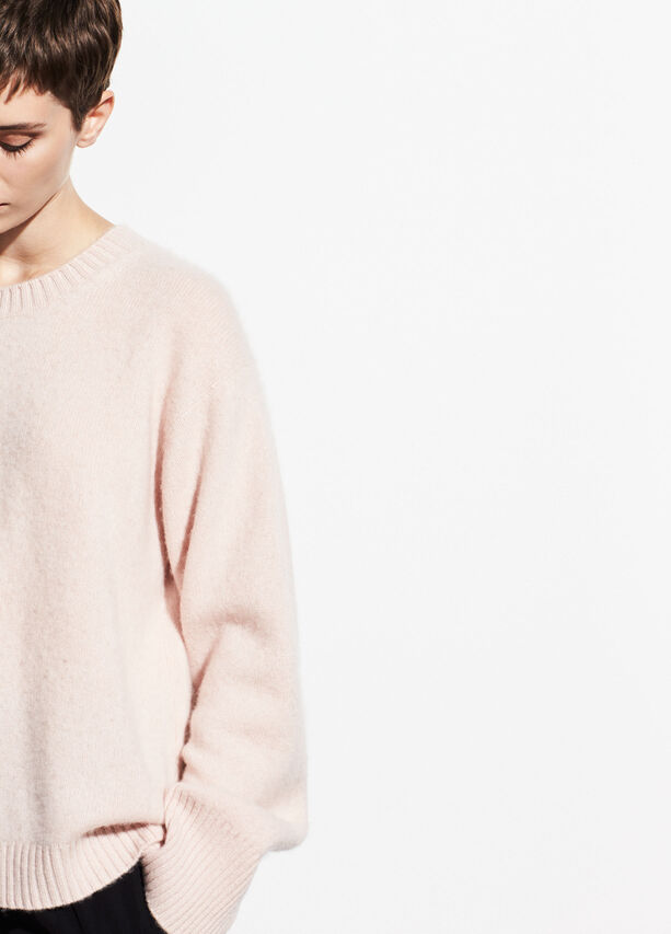 Boxy Boiled Cashmere Crew by Vince
