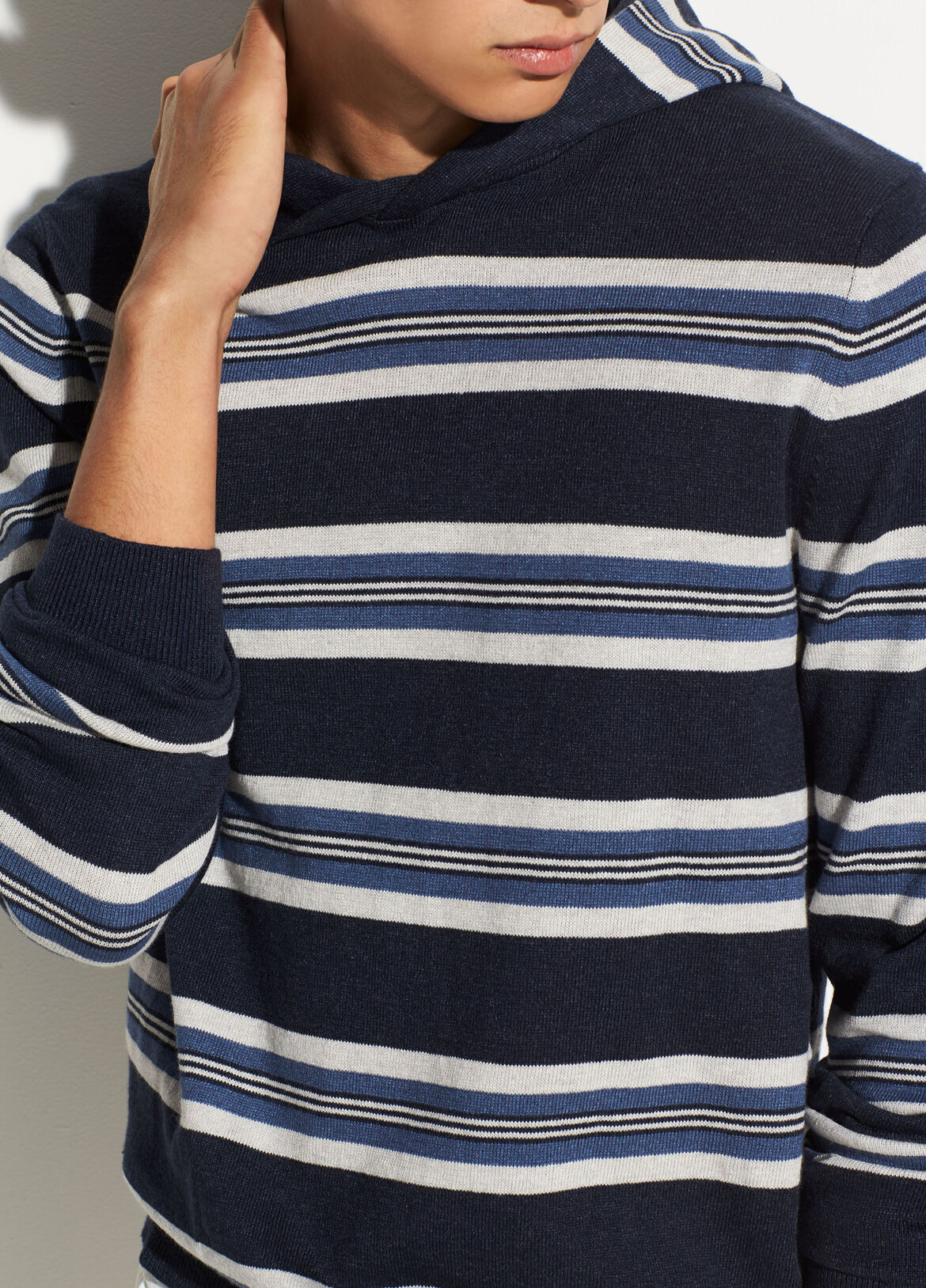 25ba8773bf17 Striped Linen Pullover Hoodie
