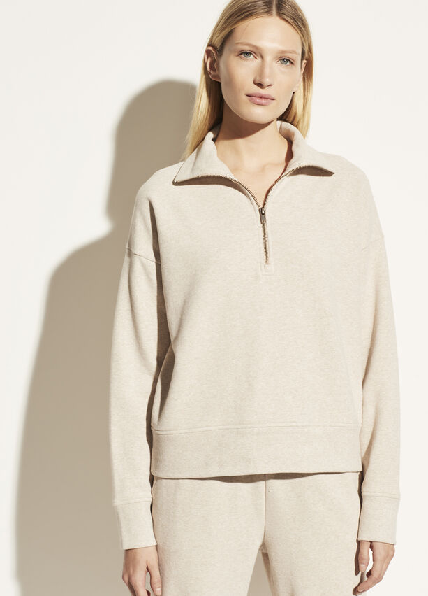 Vince French Terry Half Zip Pullover