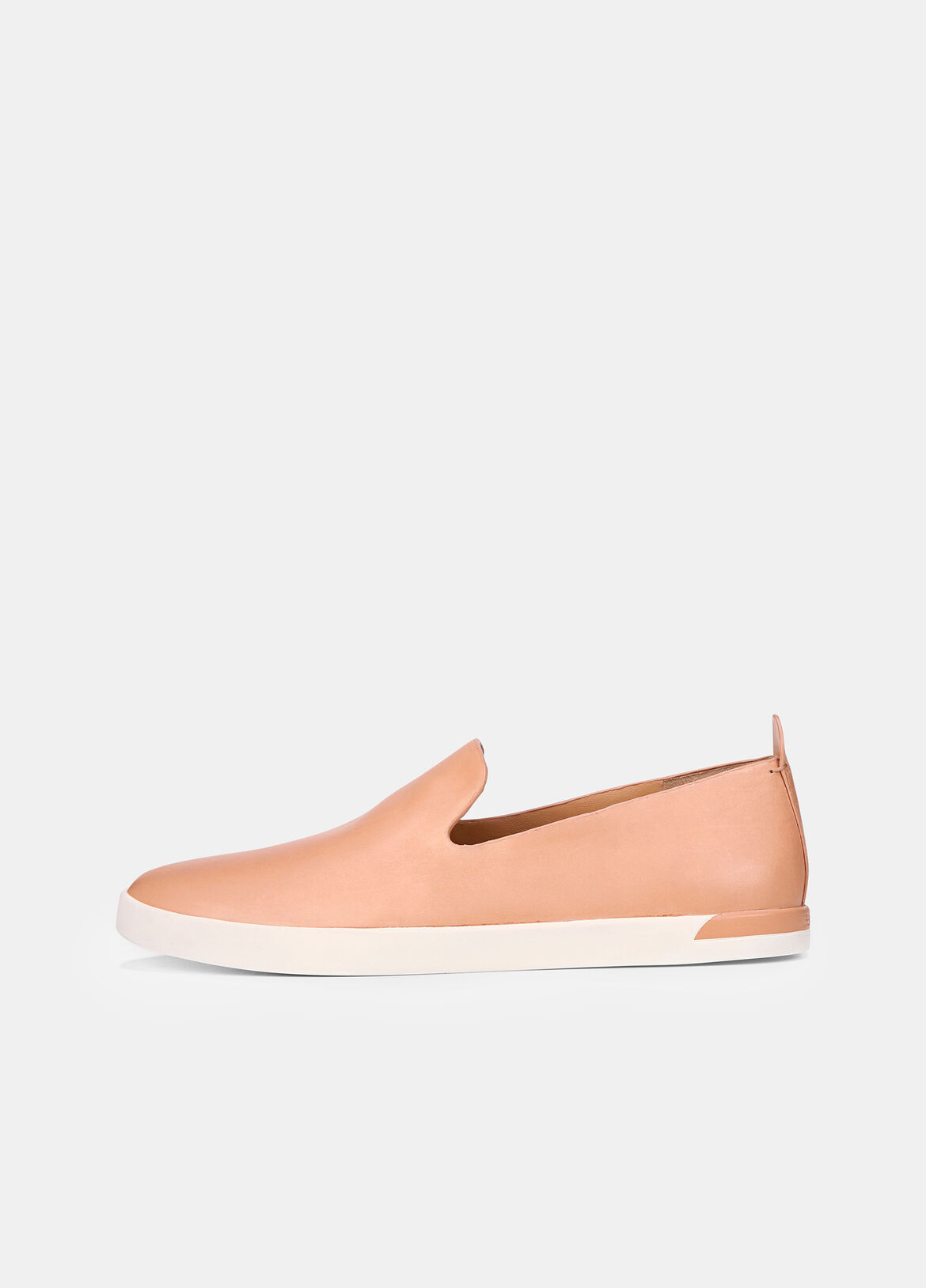 The Vero sneakers have a minimal shape cut from matte leather. They're set on equally understated rubber soles.