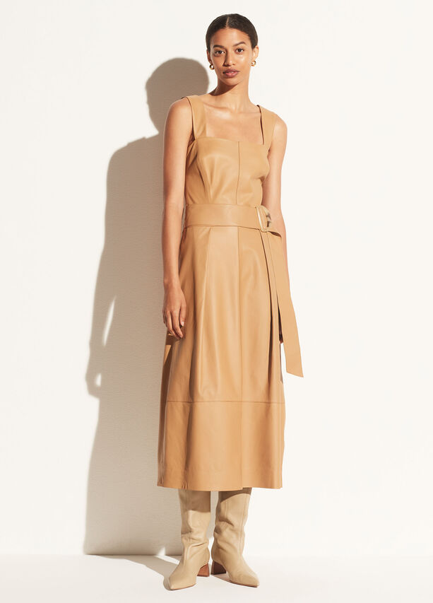 Vince Leather Camisole Dress