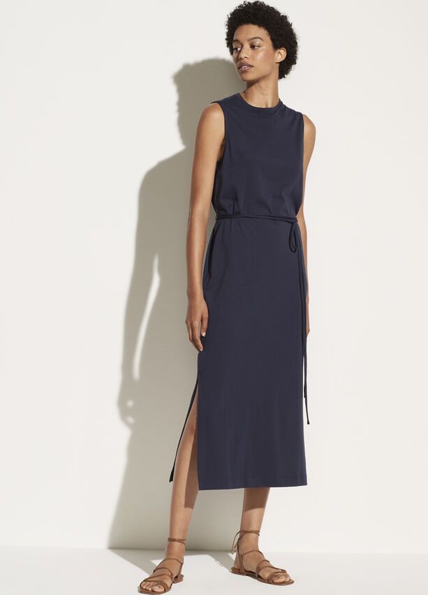 Vince Sleeveless Crewneck Dress