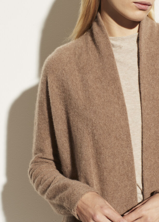 Vince Boiled Cashmere Open Cardigan