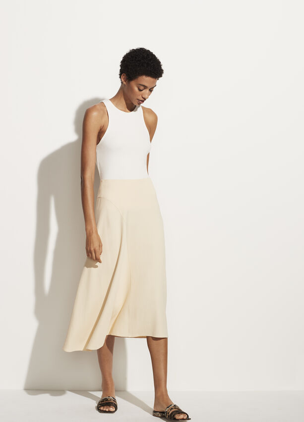 Vince Asymmetric Seam Skirt